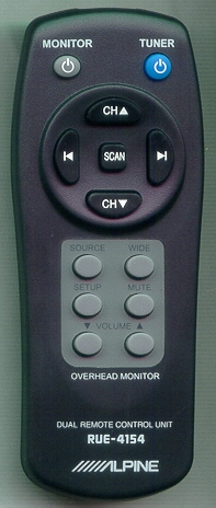 ALPINE RUE-4154 RUE4154 Refurbished Genuine OEM Original Remote
