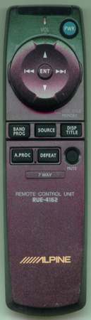 ALPINE RUE-4162 Genuine OEM original Remote