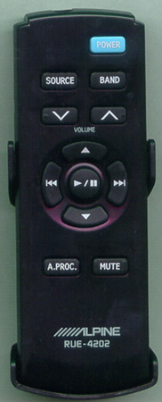 ALPINE RUE-4202 RUE4202 Genuine  OEM original Remote