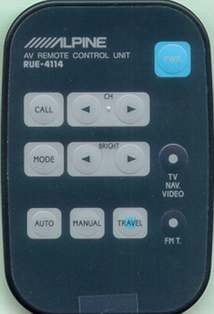 ALPINE 01E28866S01 RUE-4114 Genuine  OEM original Remote