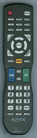 APEX LD220RM Genuine  OEM original Remote
