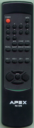 APEX RC-07B RC07B Genuine  OEM original Remote
