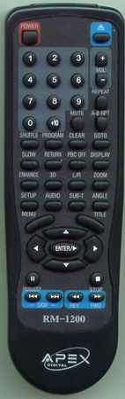 APEX RM1200 RM1200 Genuine  OEM original Remote