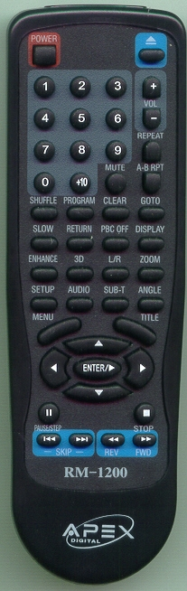 APEX RM1200 RM1200 Refurbished Genuine OEM Original Remote