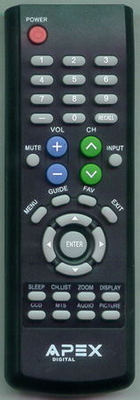 APEX LD3249RM Genuine  OEM original Remote