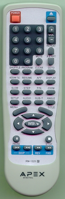 APEX RM1225 RM1225 Refurbished Genuine OEM Original Remote