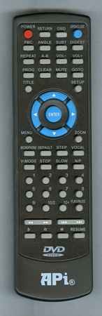 API DV702 Genuine OEM original Remote