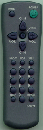 AUDIOVOX 48B3738T01 R38T01 Genuine  OEM original Remote