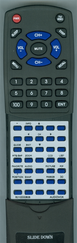 AUDIOVOX 6010D00606 Custom Built Redi Remote