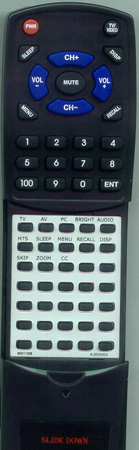 AUDIOVOX 90011008 Custom Built Redi Remote