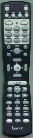 BEYOND BTVM17DVDUS Genuine  OEM original Remote