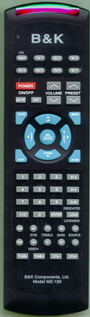 B & K MZ-128 MZ128 Genuine  OEM original Remote