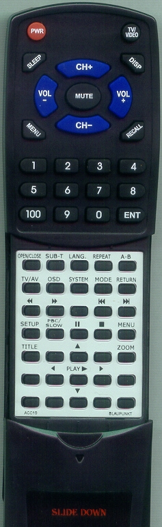 BLAUPUNKT ACC-10 Custom Built Redi Remote