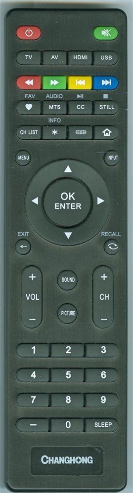 CHANGHONG RM-CHA Genuine  OEM original Remote