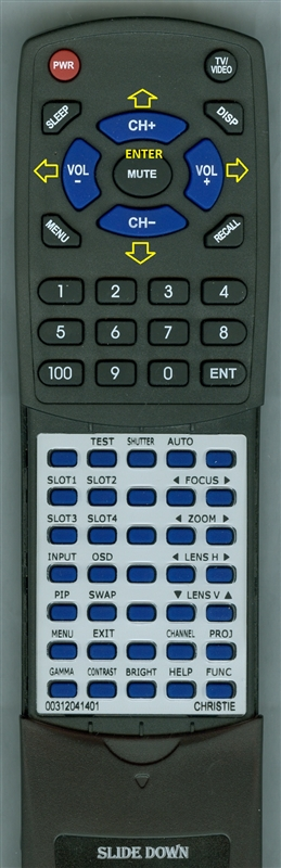 CHRISTIE 003-120414-01 INSERT Custom Built Redi Remote