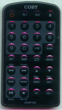 COBY CSMP165 CSMP165 Genuine  OEM original Remote