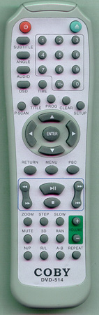 COBY DVD514 Genuine  OEM original Remote