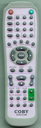COBY DVD514M DVD514M Genuine  OEM original Remote