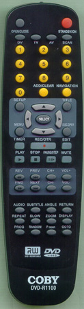 COBY DVDR1100 Genuine  OEM original Remote