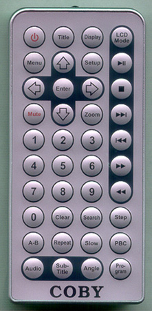 COBY TFDVD1020 Genuine  OEM original Remote