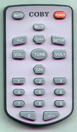 COBY TFTV700 Genuine  OEM original Remote