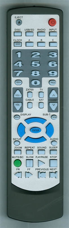 CONCERTONE ZX700 Genuine OEM original Remote