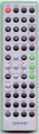 CRAIG CTFT701 Genuine  OEM original Remote