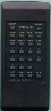 CRAIG PC1340A PC1340A Genuine  OEM original Remote