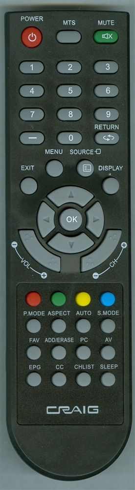 CRAIG CLC504E Genuine OEM original Remote