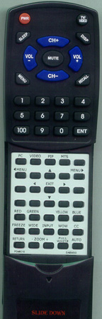 DAEWOO PD46C10 Custom Built Redi Remote