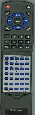 DAEWOO 48B00RV28E RV28A Custom Built Redi Remote