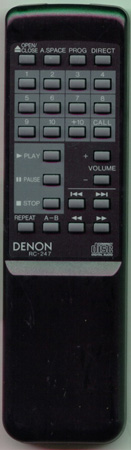 DENON 3990205006 RC247 Genuine  OEM original Remote