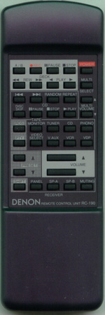 DENON 3990287008 RC190 Genuine  OEM original Remote