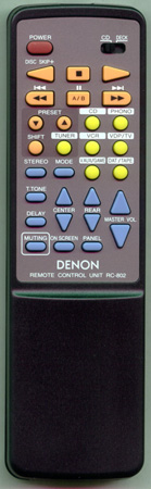 DENON 3990292019 RC802 Genuine  OEM original Remote
