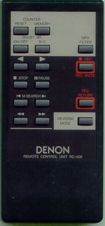 DENON 4990144001 RC406 Genuine  OEM original Remote