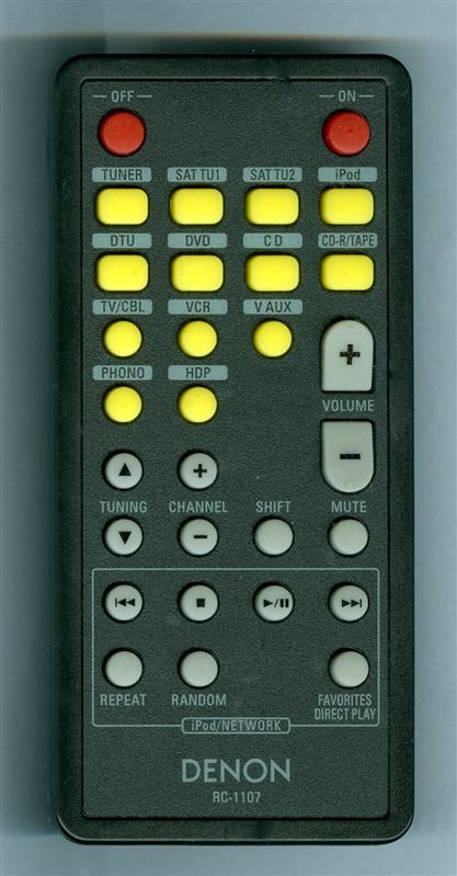 DENON 307010026007D RC-1107 Genuine OEM original Remote