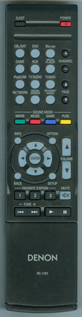 DENON 30701014000AD RC-1181 Genuine OEM original Remote