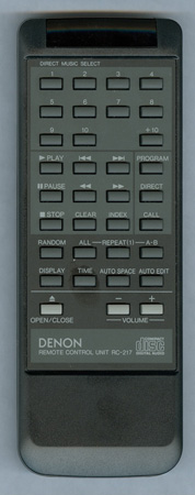 DENON 4990122007 RC-217 Genuine OEM original Remote