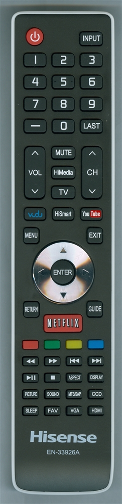 HISENSE 166485 EN-33926A Refurbished Genuine OEM Original Remote