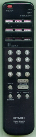 HITACHI 2573752 CLU670GR Genuine  OEM original Remote