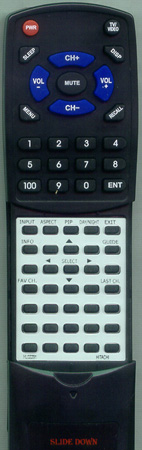 HITACHI HL02291 CLU-4362S Custom Built Redi Remote