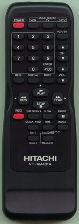HITACHI TE13024 VTRM431A Genuine OEM original Remote