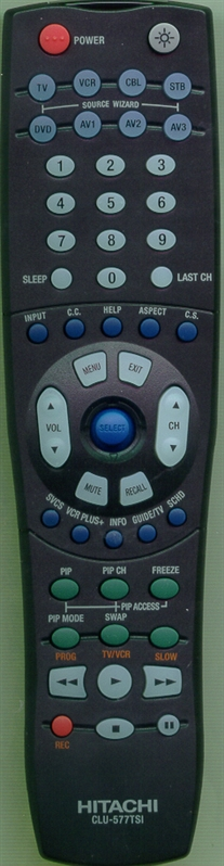 HITACHI HL01327 CLU-577TSI Genuine  OEM original Remote