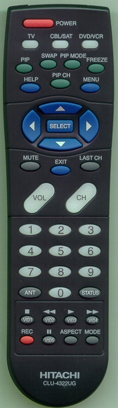 HITACHI HL01832 CLU-4322UG Genuine  OEM original Remote