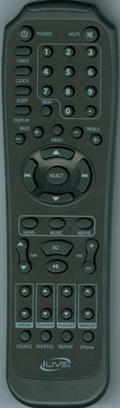 ILIVE REM-ITP582 Genuine  OEM original Remote
