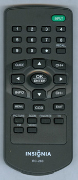 INSIGNIA ES06229A RC263 Genuine OEM original Remote