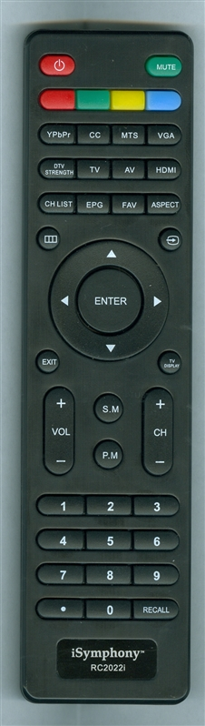 ISYMPHONY 504C1931104 RC2022I Genuine  OEM original Remote