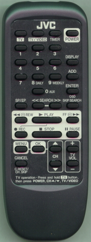 JVC PQ21931B Genuine  OEM original Remote