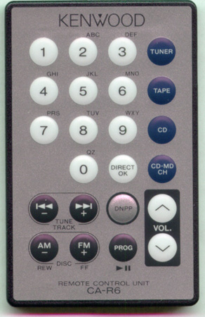 KENWOOD A70-0860-05 CAR6 Genuine  OEM original Remote
