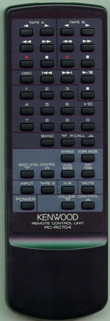 KENWOOD A70-1008-15 RCR0704 Genuine  OEM original Remote